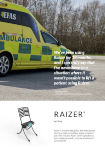 Liftup Raizer Brochure Cover - Ambulances - O Neill Healthcare