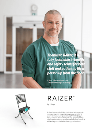 Liftup Raizer Brochure Cover - Hospital - O Neill Healthcare