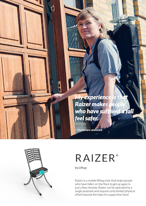 Liftup Raizer Brochure Cover - O Neill Healthcare