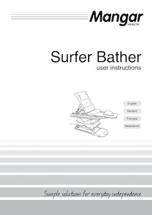 User Instructions Surfer Bather Bath Lift Cover - O Neill Healthcare
