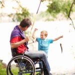 Etac Cross 5 Wheelchair - Fishing