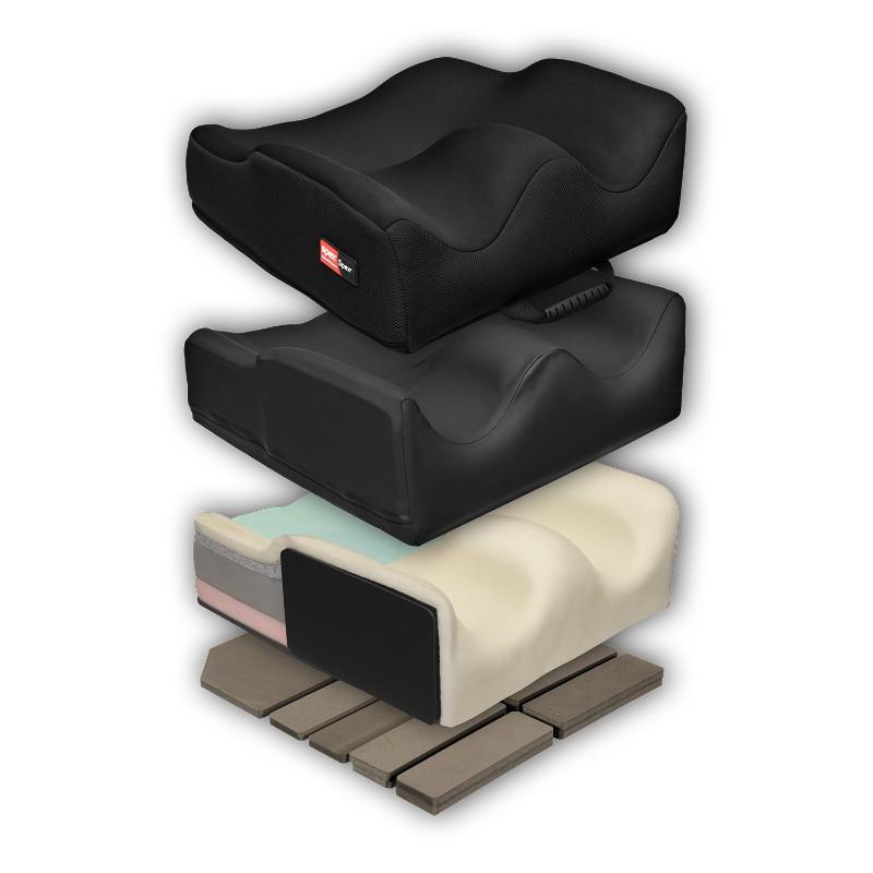 Spex Super High Contour Cushion Exploded – O Neill Healthcare