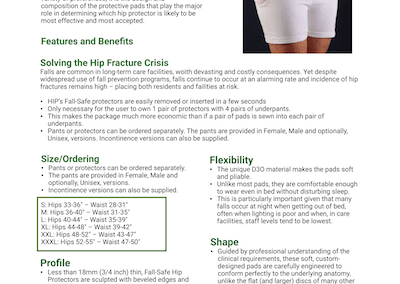 Fall Safe Hip Protectors