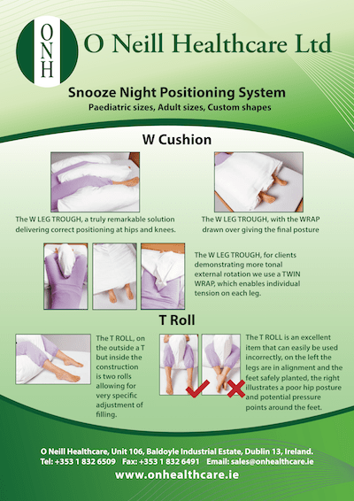 Snooze Night Positioning System Poster