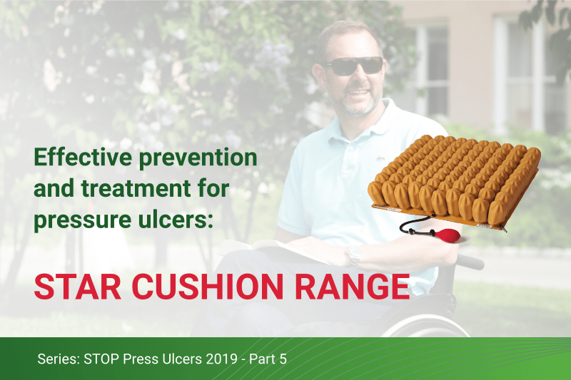 Star Cushion Range: Effective prevention and treatment of pressure ulcers for wheelchair users.