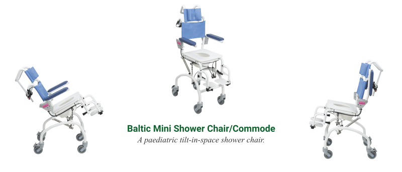 The Baltic Mini Shower Chair Commode - O Neill Healthcare