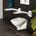 Etac Rex wall mounted toilet arm support - O Neill Healthcare