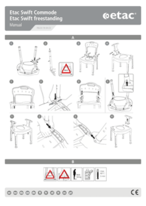 Etac Swift Commode Manual and Assembly