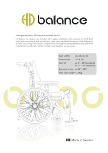 Important Features of The HD Balance Wheelchair