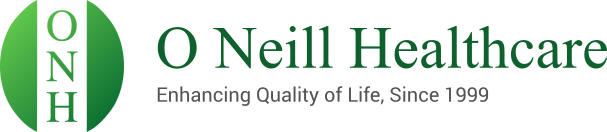 O Neill Healthcare Logo - Enhancing Quality of Life Since 1999