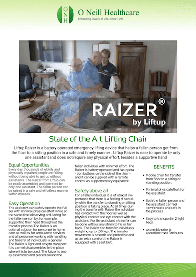 Liftup Raizer – Information Leaflet