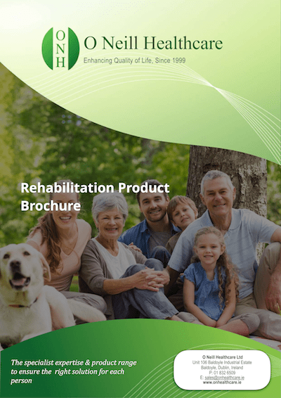 Rehabilitation Product Brochure Cover - O Neill Healthcare