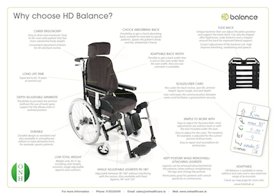 HD Balance Wheelchair - Downloadable Poster Image - O Neill Healthcare