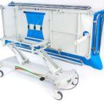 Timo Hydrolic Shower Trolley Tilted - O Neill Healthacre