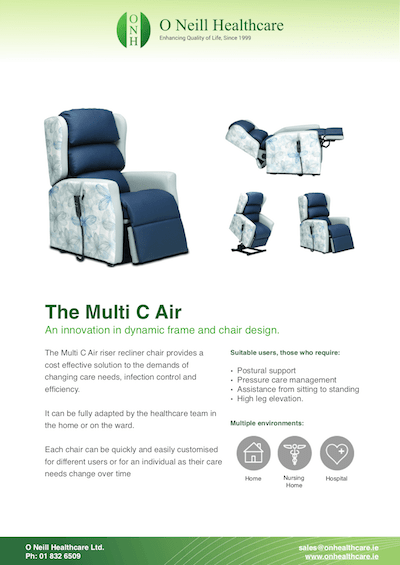 The Multi C Air Riser Recliner Chair Leaflet